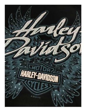 Harley-Davidson Women's Bling Winged B&S Zip-Up Poly-Blend Hoodie, Black - Wisconsin Harley-Davidson