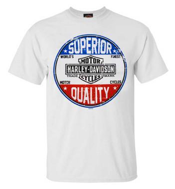 Harley-Davidson Men's Superior Quality All-Cotton Short Sleeve T-Shirt, White - Wisconsin Harley-Davidson