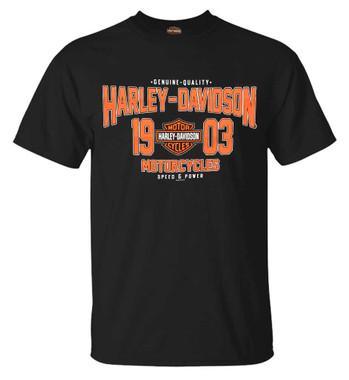 Harley-Davidson Men's Iconic H-D Short Sleeve Crew-Neck Cotton T-Shirt, Black - Wisconsin Harley-Davidson