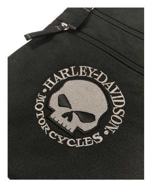 Harley-Davidson Embroidered Willie G Skull Crossbody Purse w/ Adjustable Strap - Wisconsin Harley-Davidson