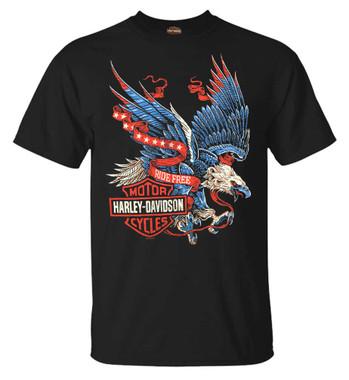 Harley-Davidson Men's Winged Eagle Crew-Neck Short Sleeve T-Shirt, Black - Wisconsin Harley-Davidson
