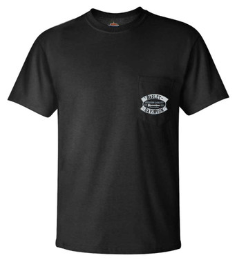 Harley-Davidson Men's Genuine H-D Chest Pocket Short Sleeve T-Shirt, Black - Wisconsin Harley-Davidson
