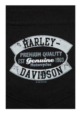 Harley-Davidson Men's Genuine H-D Chest Pocket Short Sleeve T-Shirt, Black - Wisconsin Harley-Davidson