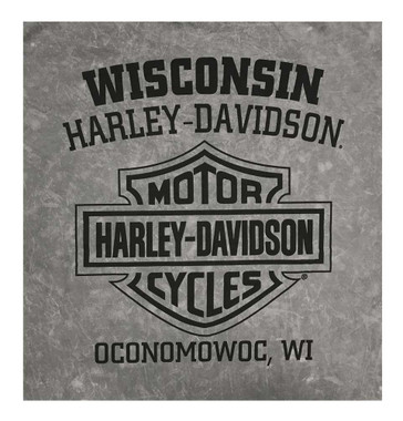 Harley-Davidson Men's Rusty Skull Short Sleeve Cotton T-Shirt, Charcoal Wash - Wisconsin Harley-Davidson