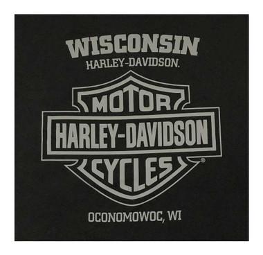 Harley-Davidson Men's Live To Ride H-D Short Sleeve Cotton T-Shirt, Solid Black - Wisconsin Harley-Davidson