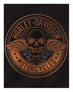Harley-Davidson Men's Flight Skull Chest Pocket Short Sleeve T-Shirt, Black - Wisconsin Harley-Davidson