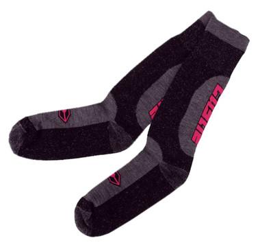 Castle X Powersports Women's Regulator Durable Knit Riding Socks - Gray & Pink - Wisconsin Harley-Davidson