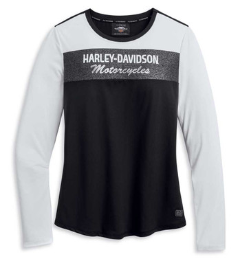 Harley-Davidson Women's Performance Colorblock Long Sleeve Shirt 96229-20VW - Wisconsin Harley-Davidson
