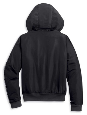 Harley-Davidson Women's Cozy Plush Lined Zip-Up Hoodie - Black 96233-20VW - Wisconsin Harley-Davidson