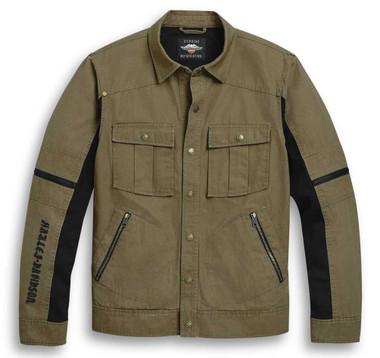 Harley-Davidson Men's Washed Cotton Canvas Casual Lined  Jacket 97120-20VM - Wisconsin Harley-Davidson