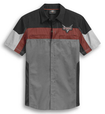Harley-Davidson Men's Performance Mesh Panel Short Sleeve Shirt 96298-20VM - Wisconsin Harley-Davidson