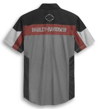 Harley-Davidson Men's Performance Mesh Panel Short Sleeve Shirt 96298-20VM - Wisconsin Harley-Davidson