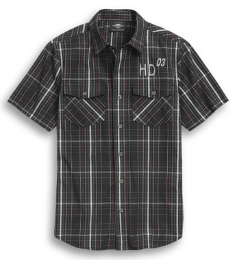 Harley-Davidson Men's Legendary 1903 Plaid Short Sleeve Woven Shirt 96299-20VM - Wisconsin Harley-Davidson