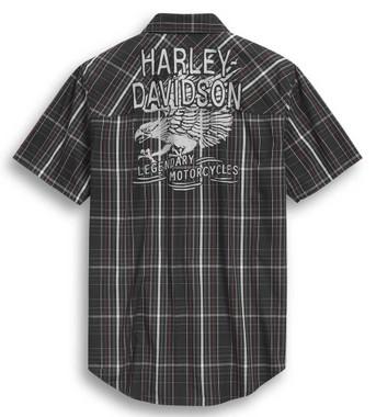 Harley-Davidson Men's Legendary 1903 Plaid Short Sleeve Woven Shirt 96299-20VM - Wisconsin Harley-Davidson