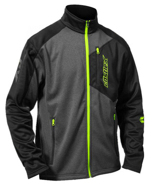 Castle X Powersports Men's Fusion G2 Mid-Layer Performance Jacket, Gray & Hi-Vis - Wisconsin Harley-Davidson