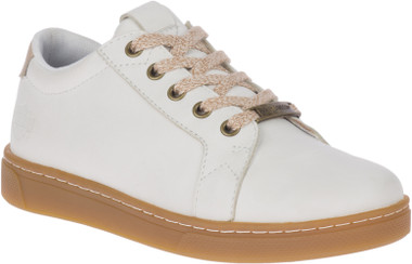 Harley-Davidson Women's Beales Black or White Leather Athletic Shoes, D84598 - Wisconsin Harley-Davidson