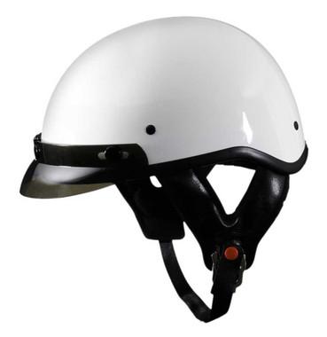 Fulmer Powersports 302 Revel Visor Motorcycle Half Helmet - Gloss White - Wisconsin Harley-Davidson