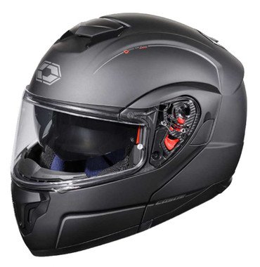 Castle Atom SV Anti-Fog Face Shield Modular Motorcycle Helmet - Matte Black - Wisconsin Harley-Davidson
