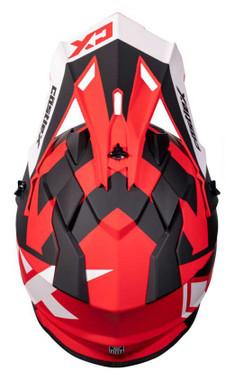 CastleX Mode MX Flow Modular Motorcycle Polycarbonate Helmet - Matte Red - Wisconsin Harley-Davidson