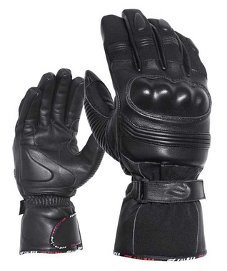 Fulmer Men's 553 Bruizer Heavyweight Deerskin Leather Full-Finger Gloves - Black - Wisconsin Harley-Davidson