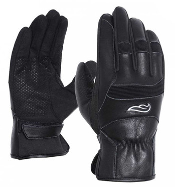 Fulmer Men's 554 Sprinter Goat Leather Full-Finger Motorcycle Gloves - Black - Wisconsin Harley-Davidson