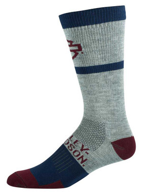 Harley-Davidson Women's 2-Pack Color Block Performance Riding Socks - Gray - Wisconsin Harley-Davidson
