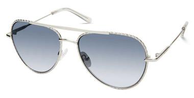 Harley-Davidson Women's Bejeweled Aviator Sunglasses, Silver Frame & Smoke Lens - Wisconsin Harley-Davidson
