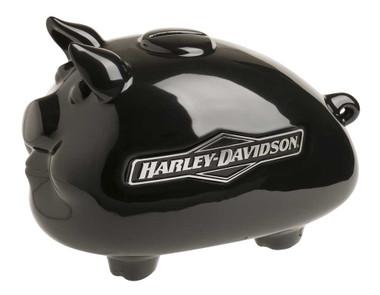 Harley-Davidson Ceramic 2007 Tank Graphic Medium Size Hog Bank - Black HDX-99175 - Wisconsin Harley-Davidson