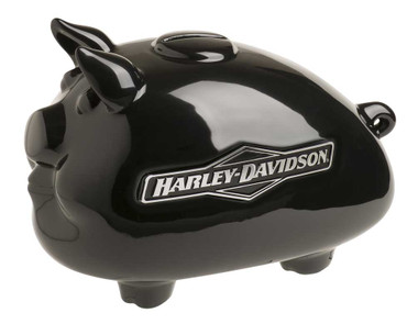 Harley-Davidson Ceramic 2007 Tank Graphic Medium Size Hog Bank - Black HDX-99175 - Wisconsin Harley-Davidson