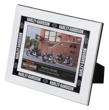 Harley-Davidson Inlay Zinc Alloy Picture Frame - Holds 5 x 7 Photo HDX-99172 - Wisconsin Harley-Davidson