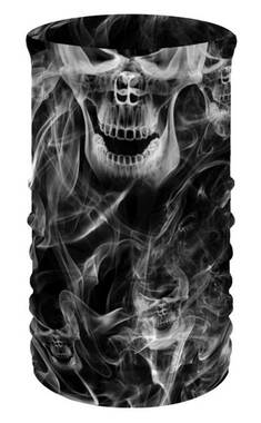 That's A Wrap Unisex Smoky Skulls Multi-Function Reversible Neck Tube Face Cover - Wisconsin Harley-Davidson