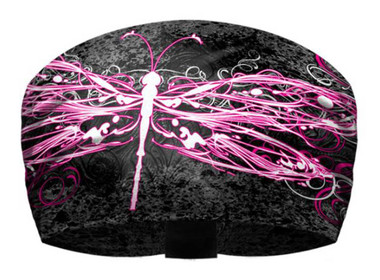 That's A Wrap Women's Dragonfly Splatter Knotty Band - Black & Pink KB1429 - Wisconsin Harley-Davidson
