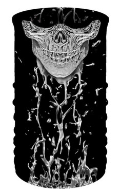 That's A Wrap Unisex Terminator Skull Multi-Function Reversible Tube Face Cover - Wisconsin Harley-Davidson