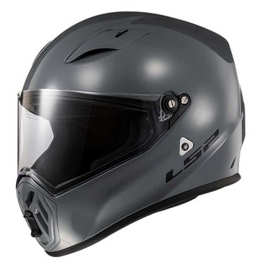LS2 Helmets Street Fighter Full Face Motorcycle Helmet, Gloss Gray 419-313 - Wisconsin Harley-Davidson