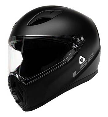 LS2 Helmets Street Fighter Full Face Motorcycle Helmet, Matte Black 419-301 - Wisconsin Harley-Davidson