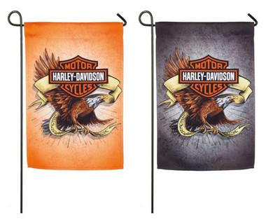 Harley-Davidson Legendary Eagle Two-Sided Garden Flag, 12.5 x 18 14S4920FB - Wisconsin Harley-Davidson