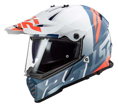 LS2 Helmets Blaze Sprint Adventure Motorcycle Helmet, White/Red/Gray 436B-112 - Wisconsin Harley-Davidson