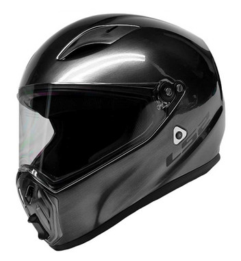 LS2 Helmets Street Fighter Full Face Motorcycle Helmet, Brushed Alloy 419-353 - Wisconsin Harley-Davidson