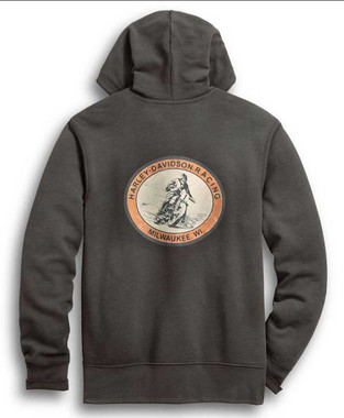Harley-Davidson Men's Racing Circle Zip-Up Hoodie, Castlerock Gray 96287-20VM - Wisconsin Harley-Davidson