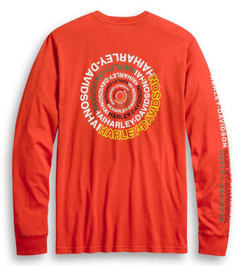 Harley-Davidson Men's Slim Fit Spiral Graphic Long Sleeve T-Shirt 96250-20VH - Wisconsin Harley-Davidson
