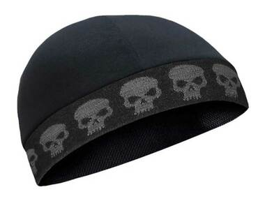 That's A Wrap Unisex Ghost Skull Performance CoolMax Cool Skull Cap - Black - Wisconsin Harley-Davidson