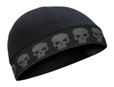 That's A Wrap Unisex Ghost Skull Performance CoolMax Cool Skull Cap - Black - Wisconsin Harley-Davidson
