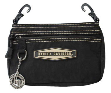Harley-Davidson Taupe Rally Rubber Patch Hip Bag w/ Strap RL7251S-TPEBLK - Wisconsin Harley-Davidson