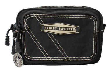 Harley-Davidson Taupe Rally 3-IN-1 Waistpack - Purse & Hip Bag RL7267S-TPEBLK - Wisconsin Harley-Davidson