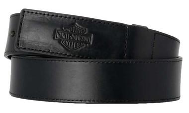 Harley-Davidson Men's Tool Master Bar & Shield Genuine Leather Belt - Black - Wisconsin Harley-Davidson