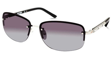 Harley-Davidson Women's Rimless Sunglasses, Nickeltin Frame/Gradient Smoke Lens - Wisconsin Harley-Davidson