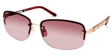 Harley-Davidson Women's Rimless Sunglasses, Rose Gold Frame/Gradient Lenses - Wisconsin Harley-Davidson
