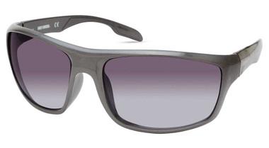 Harley-Davidson Men's Tampered Temple Sunglasses, Gray Frame/Gradient Smoke Lens - Wisconsin Harley-Davidson