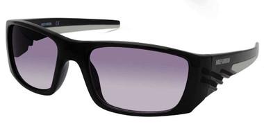 Harley-Davidson Men's Color Stripe Sunglasses, Black Frame/Gradient Smoke Lenses - Wisconsin Harley-Davidson