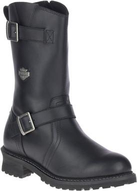 Harley-Davidson Men's Stahl Black 10.5-Inch Motorcycle Boots, D93695 - Wisconsin Harley-Davidson